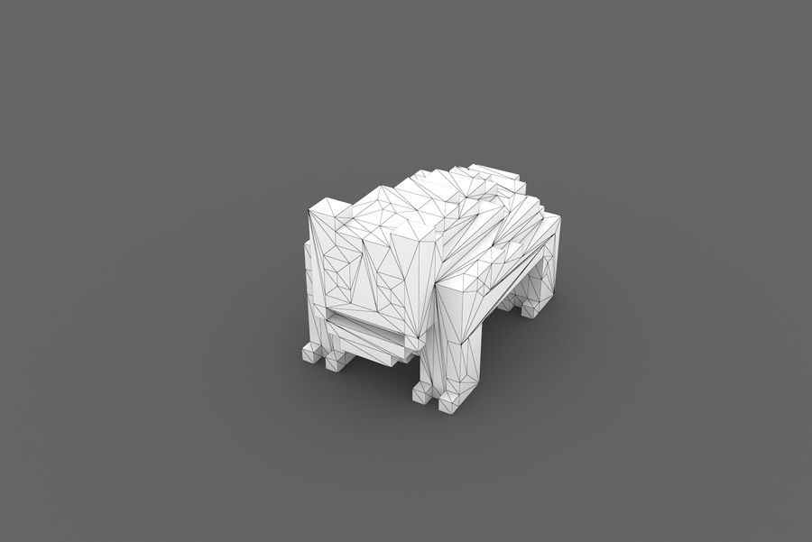 Creature 001 royalty-free 3d model - Preview no. 13