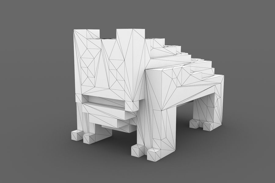 Creature 001 royalty-free 3d model - Preview no. 9