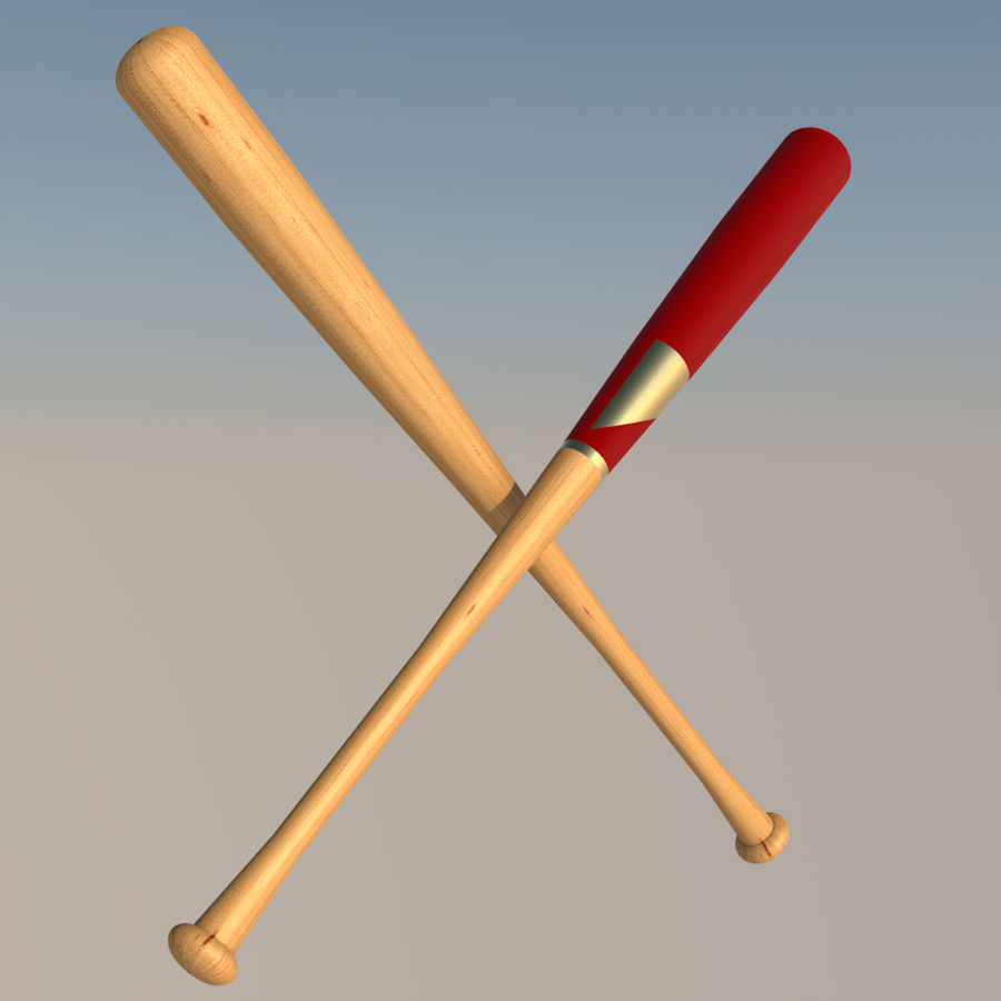 basebollträ royalty-free 3d model - Preview no. 5