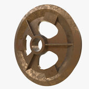 Pulley guiding wheel 3d model