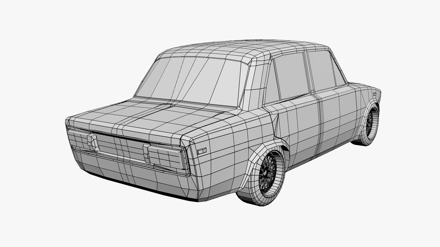 Low Poly Car (1) royalty-free 3d model - Preview no. 7