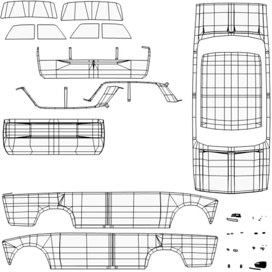Samochód Low Poly royalty-free 3d model - Preview no. 8