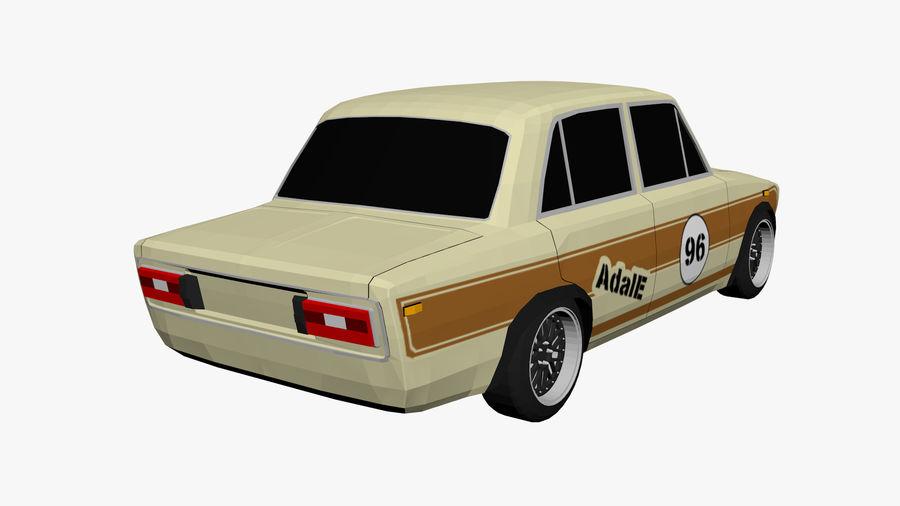 Samochód Low Poly royalty-free 3d model - Preview no. 3