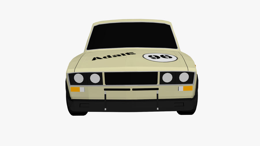 Low Poly Car (1) royalty-free 3d model - Preview no. 4