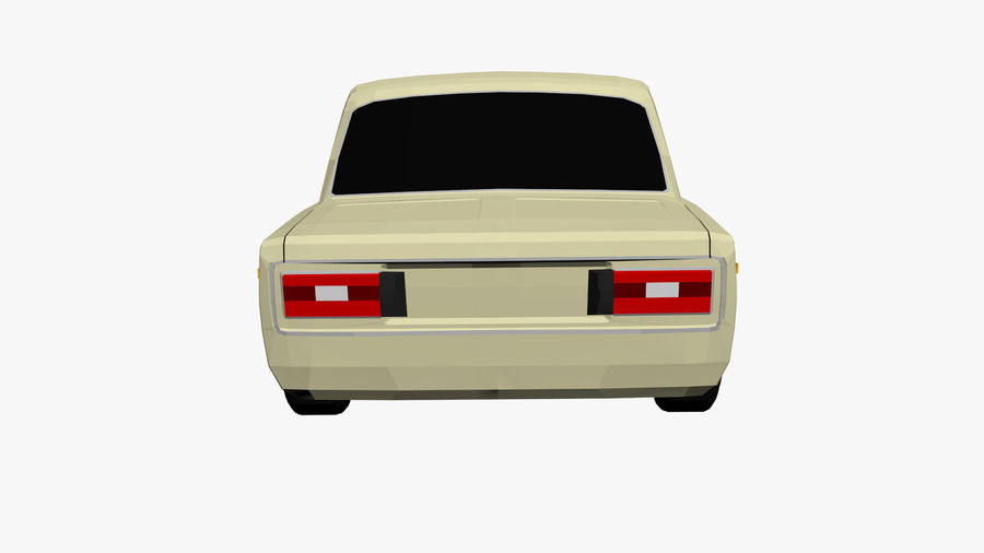 Low Poly Car (1) royalty-free 3d model - Preview no. 5