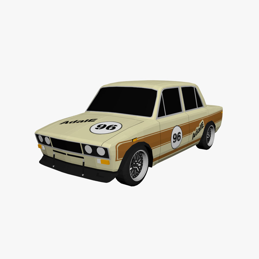 Low Poly Car (1) royalty-free 3d model - Preview no. 1