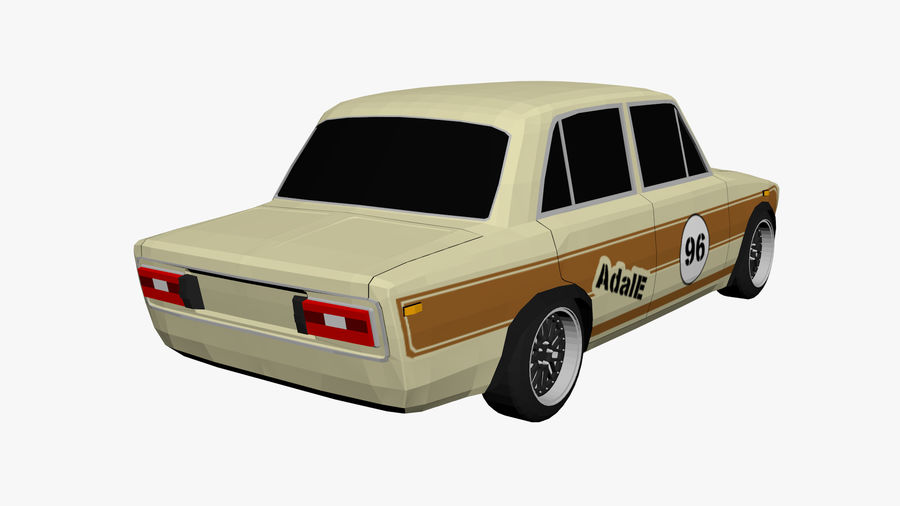 Low Poly Car (1) royalty-free 3d model - Preview no. 3
