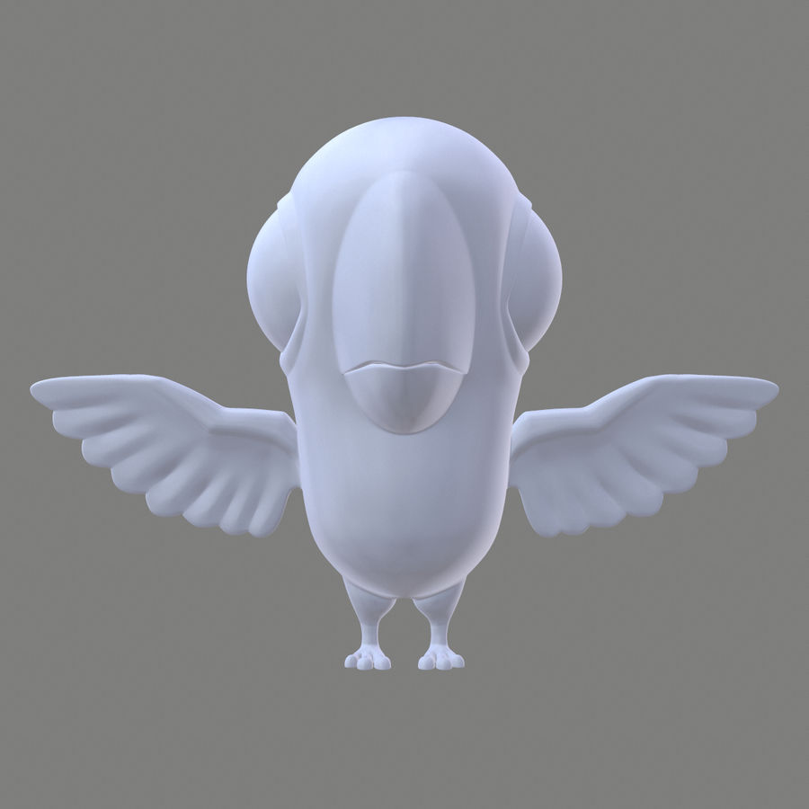 Animal - Silly Bird royalty-free 3d model - Preview no. 7