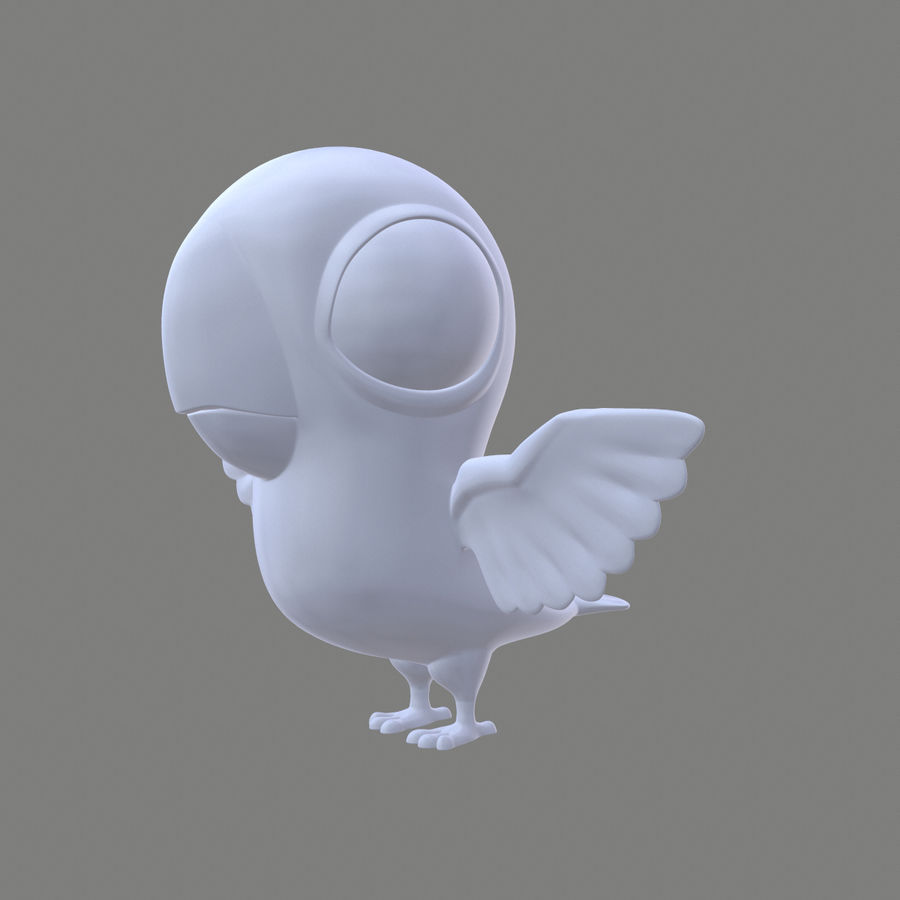 Animal - Silly Bird royalty-free 3d model - Preview no. 2