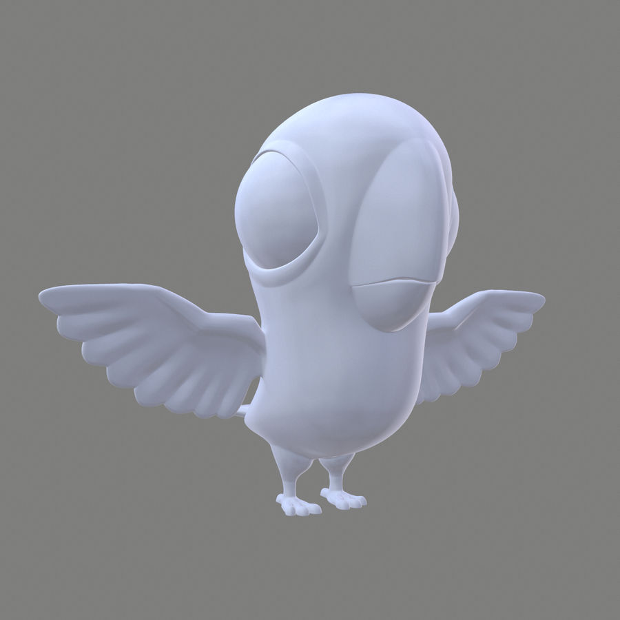 Animal - Silly Bird royalty-free 3d model - Preview no. 1