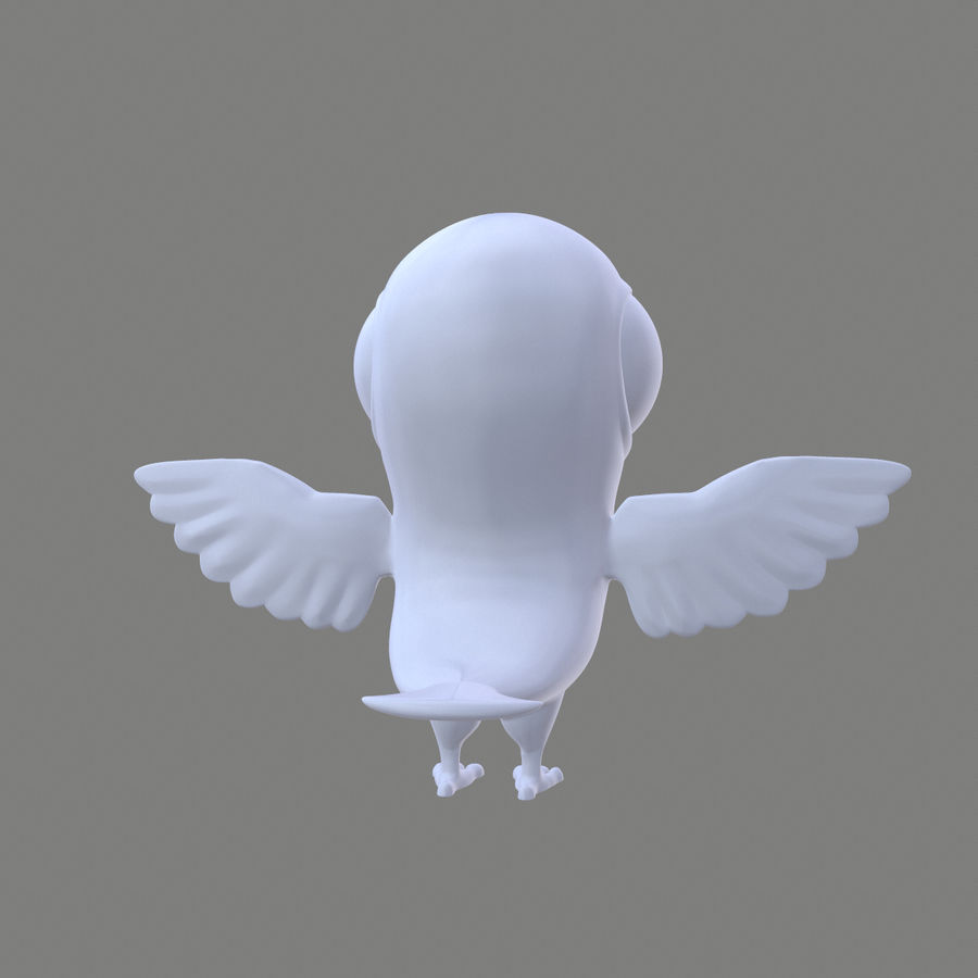 Animal - Silly Bird royalty-free 3d model - Preview no. 6