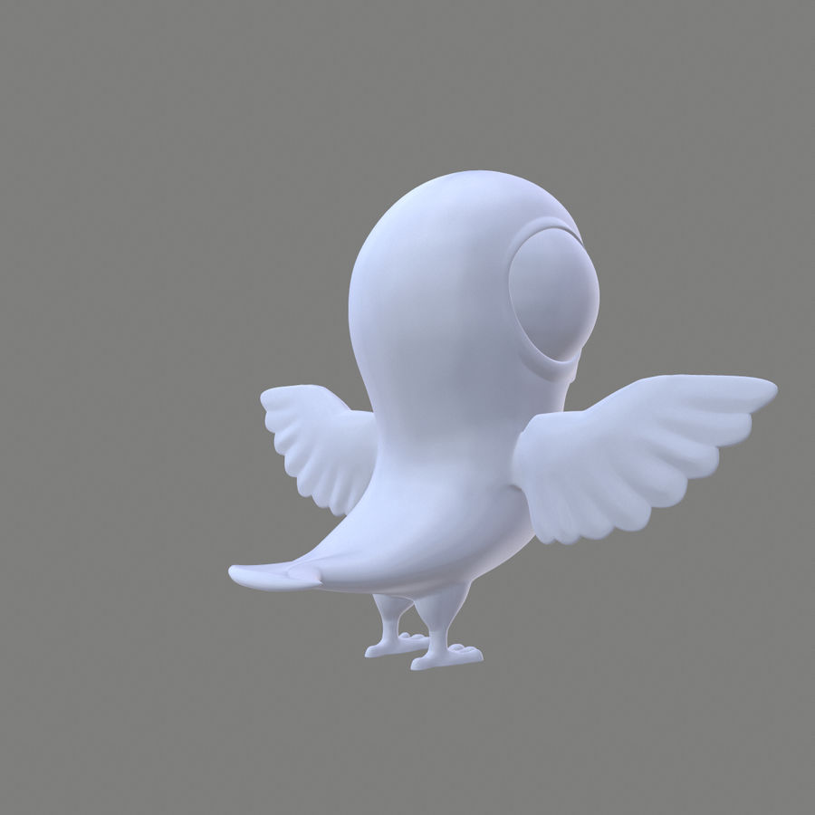 Animal - Silly Bird royalty-free 3d model - Preview no. 4