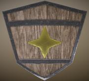 Worn Shield 3d model
