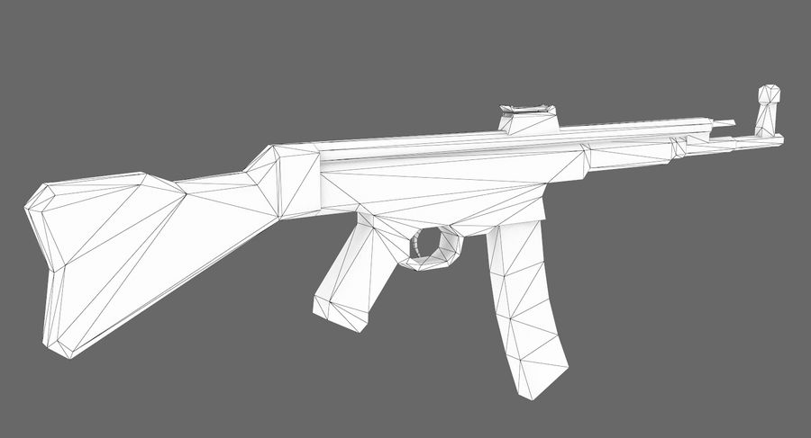 StG 44 royalty-free 3d model - Preview no. 8