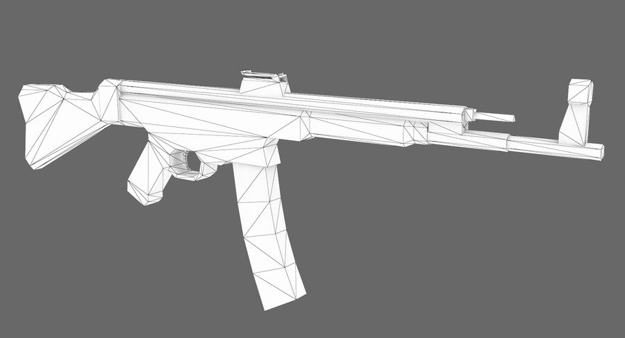 StG 44 royalty-free 3d model - Preview no. 7