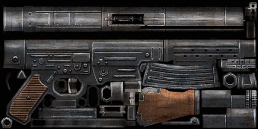 StG 44 royalty-free 3d model - Preview no. 13
