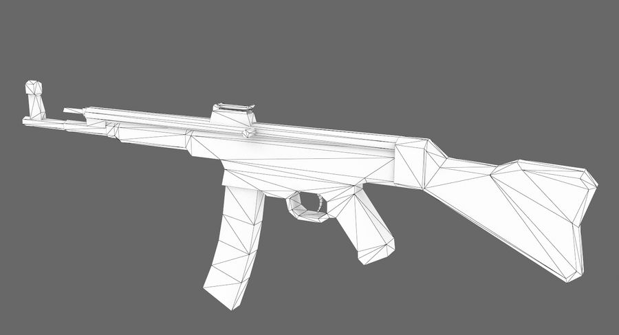 StG 44 royalty-free 3d model - Preview no. 11