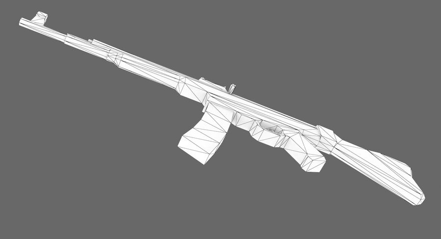 StG 44 royalty-free 3d model - Preview no. 10