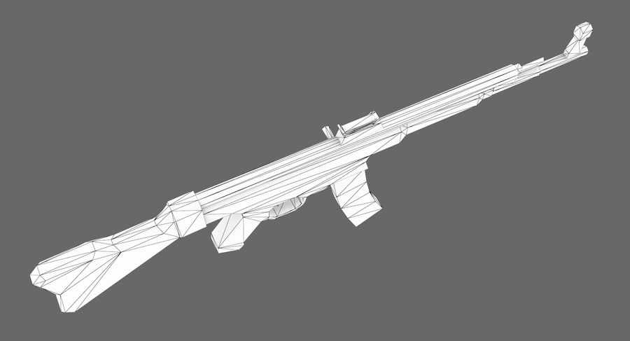 StG 44 royalty-free 3d model - Preview no. 9