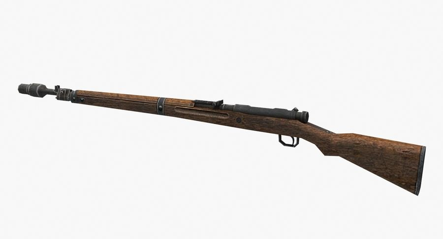Type 99 rifle royalty-free 3d model - Preview no. 6