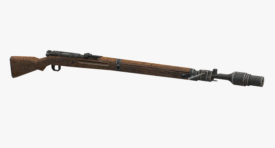 Type 99 rifle royalty-free 3d model - Preview no. 2