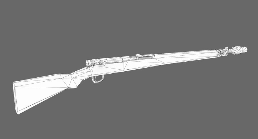 Type 99 rifle royalty-free 3d model - Preview no. 8