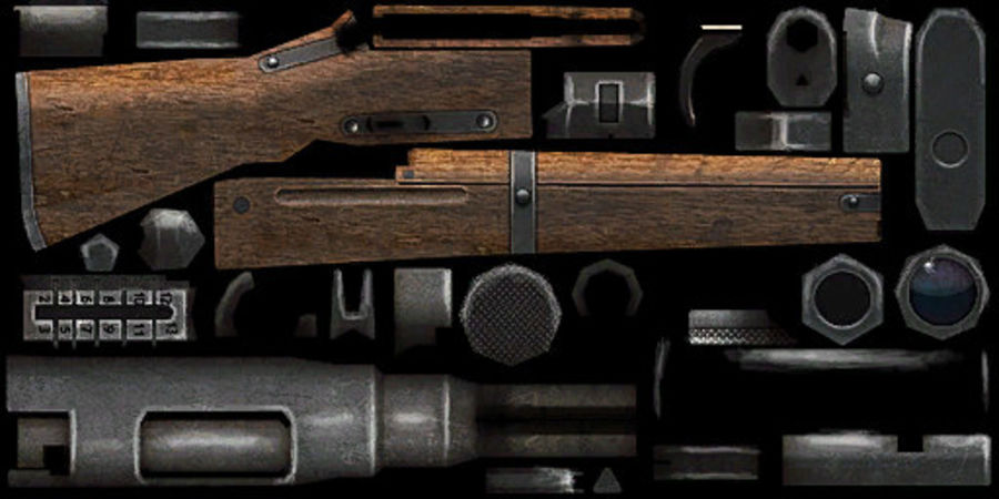Type 99 rifle royalty-free 3d model - Preview no. 13