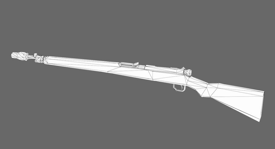 Type 99 rifle royalty-free 3d model - Preview no. 11