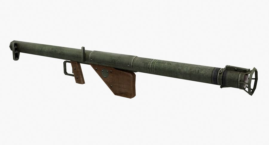 Bazooka royalty-free 3d model - Preview no. 6
