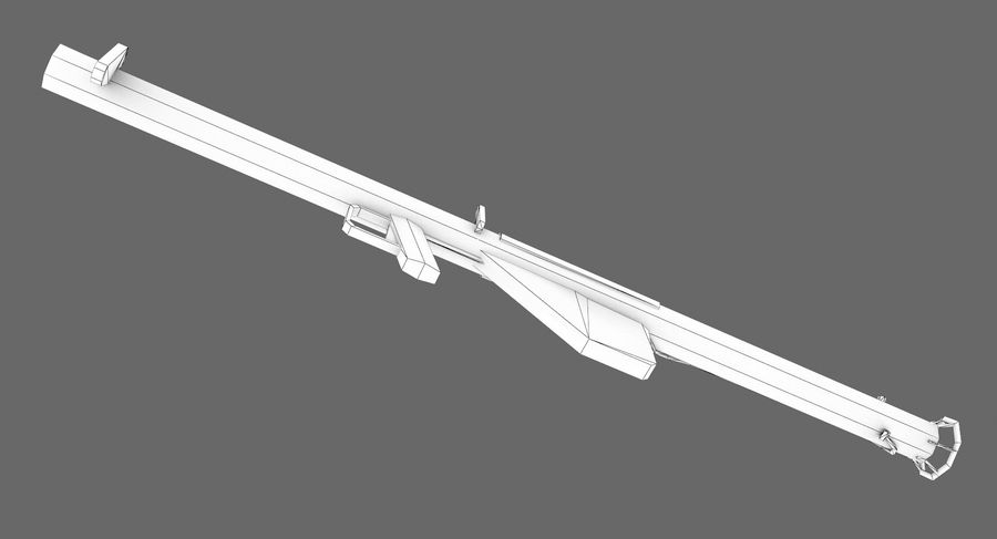 Bazooka royalty-free 3d model - Preview no. 10