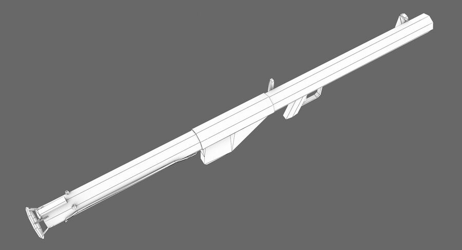 Bazooka royalty-free 3d model - Preview no. 5