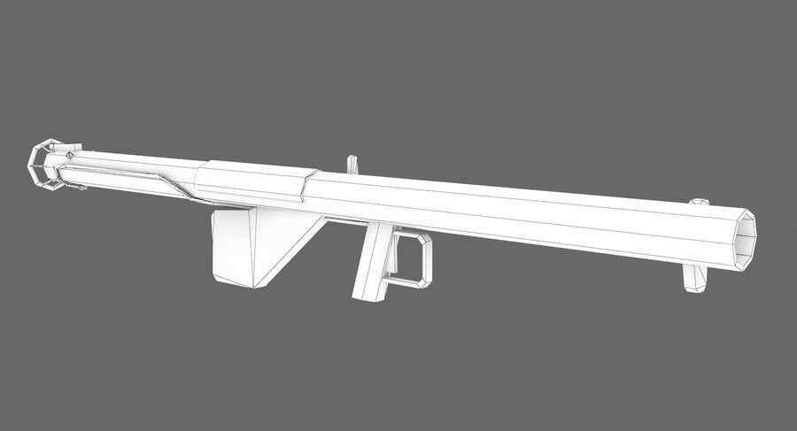 Bazooka royalty-free 3d model - Preview no. 7