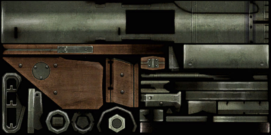 Bazooka royalty-free 3d model - Preview no. 13
