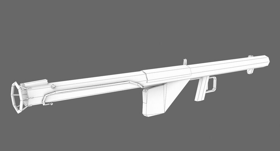 Bazooka royalty-free 3d model - Preview no. 4