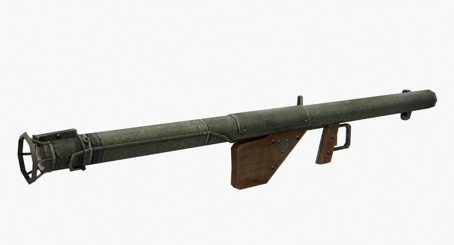 Bazooka royalty-free 3d model - Preview no. 3
