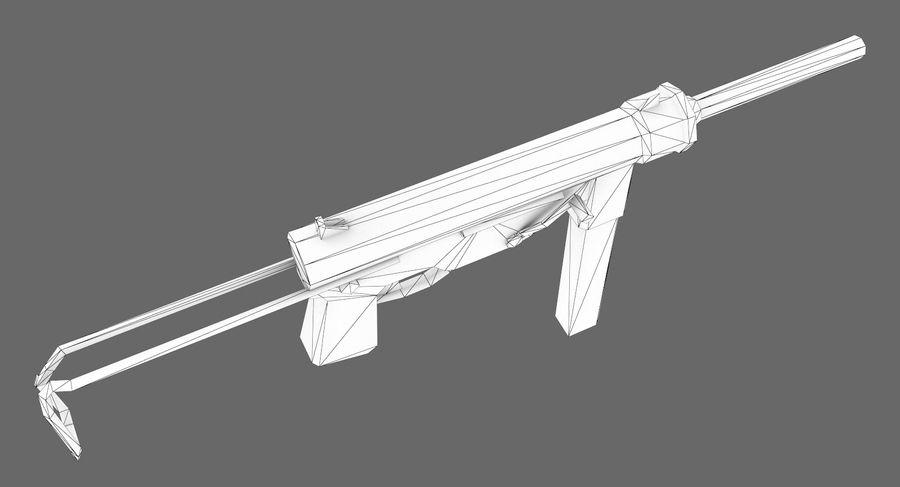 M3A1 royalty-free 3d model - Preview no. 9
