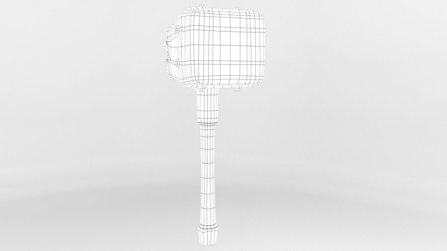 远古之锤 royalty-free 3d model - Preview no. 27
