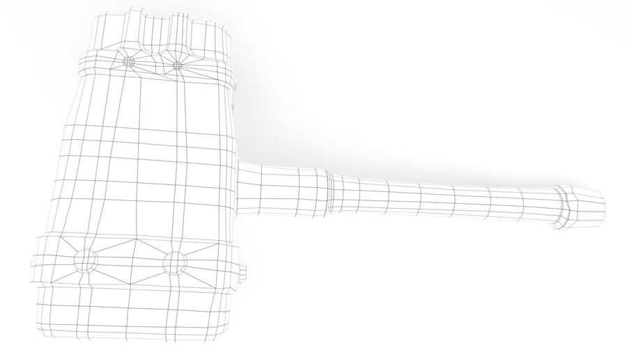 远古之锤 royalty-free 3d model - Preview no. 39