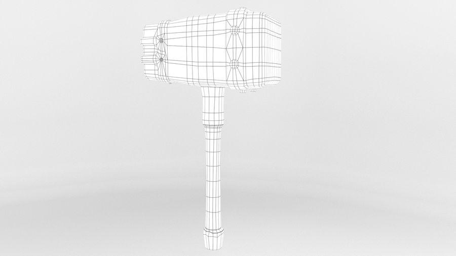 远古之锤 royalty-free 3d model - Preview no. 7