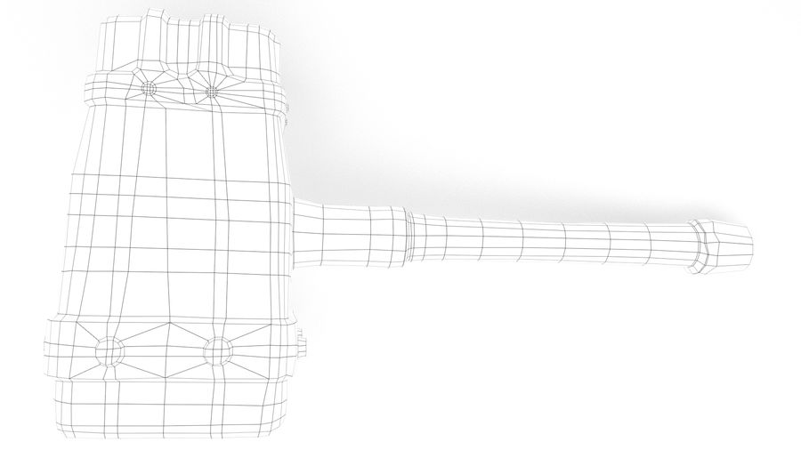 远古之锤 royalty-free 3d model - Preview no. 29