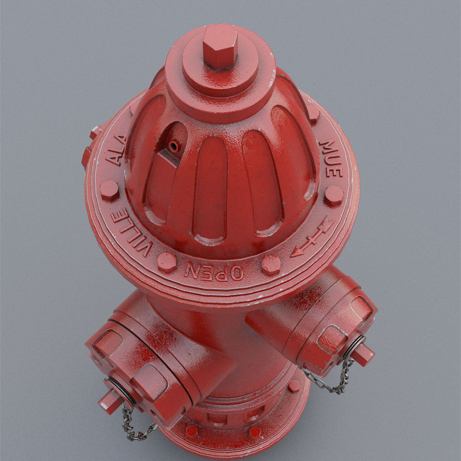 Fire Hydrant royalty-free 3d model - Preview no. 15