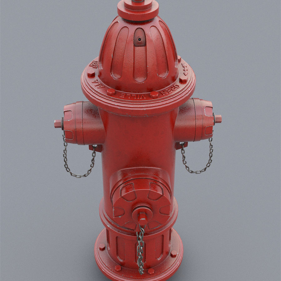 Fire Hydrant royalty-free 3d model - Preview no. 11