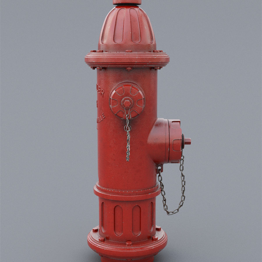 Fire Hydrant royalty-free 3d model - Preview no. 6