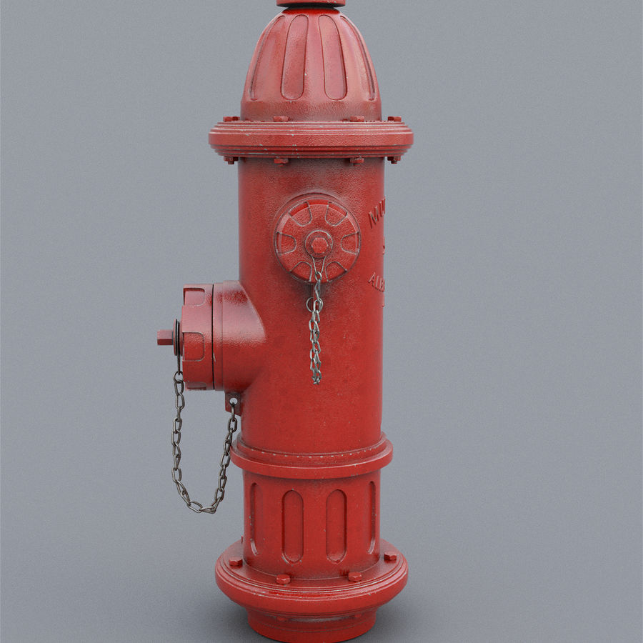 Fire Hydrant royalty-free 3d model - Preview no. 9