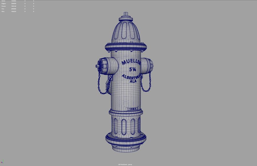 Fire Hydrant royalty-free 3d model - Preview no. 16