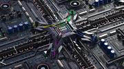CPU motherboard 3d model