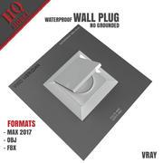 地面防水墙塞 3d model