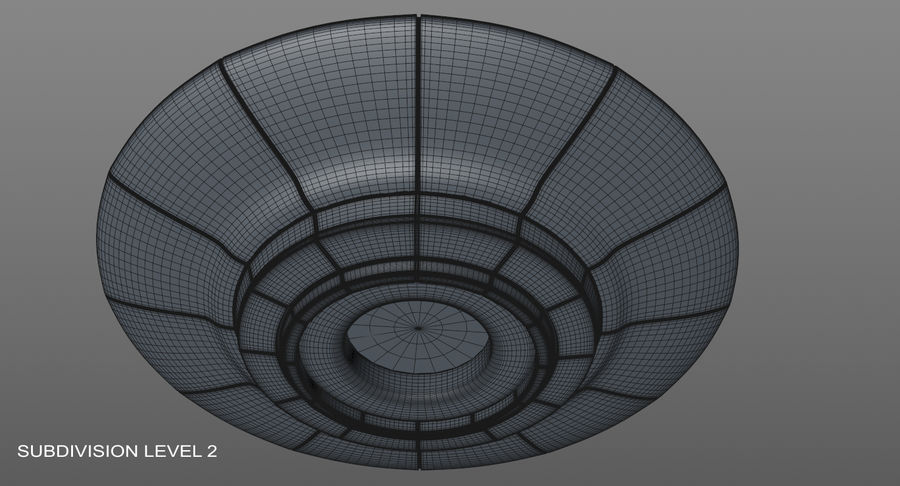 Ufoエイリアンの宇宙船 royalty-free 3d model - Preview no. 14