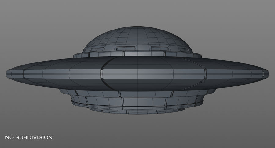 Ufoエイリアンの宇宙船 royalty-free 3d model - Preview no. 15