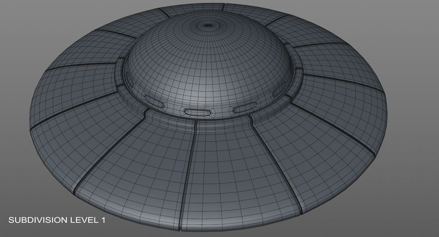 Ufoエイリアンの宇宙船 royalty-free 3d model - Preview no. 19